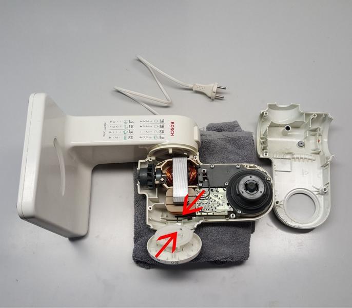 Bosch Kuechenmaschine MUM4 Schalter ausbauen